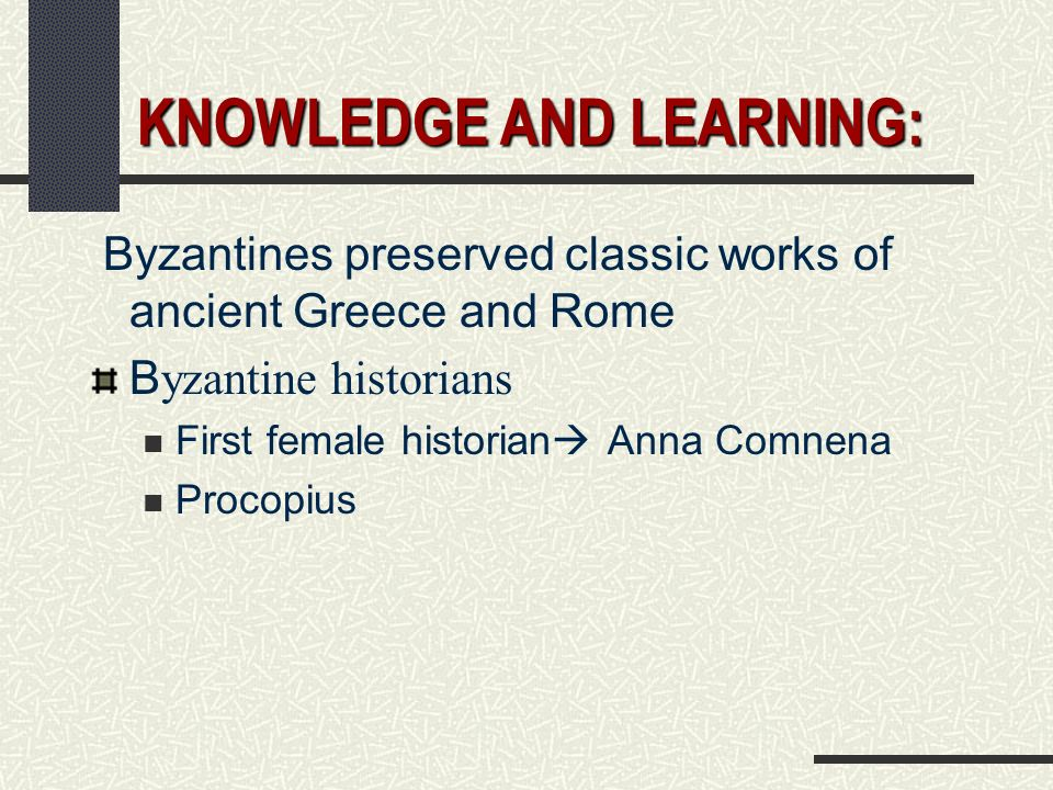 KNOWLEDGE AND LEARNING: