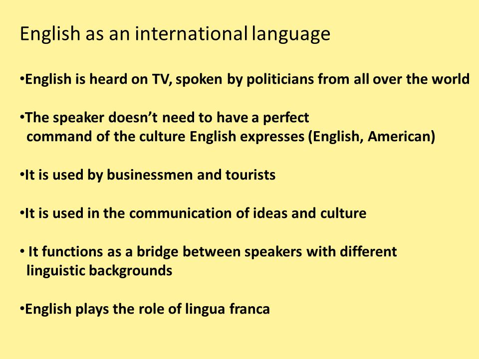 Global English English As An International Language Ppt Video - How many international languages in the world