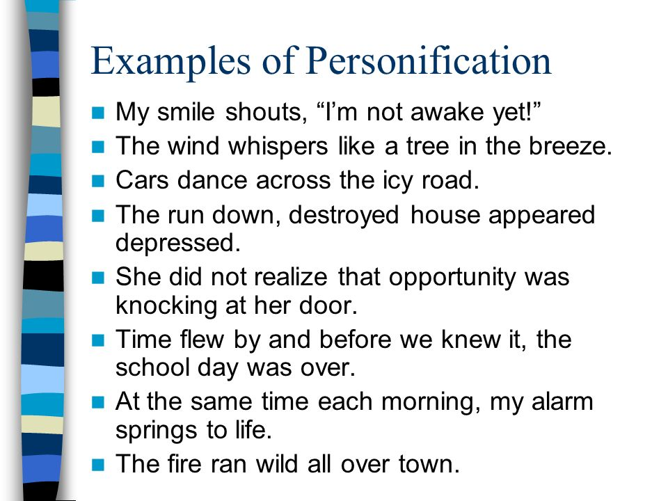 Personification What Word Do You Notice Inside Personification