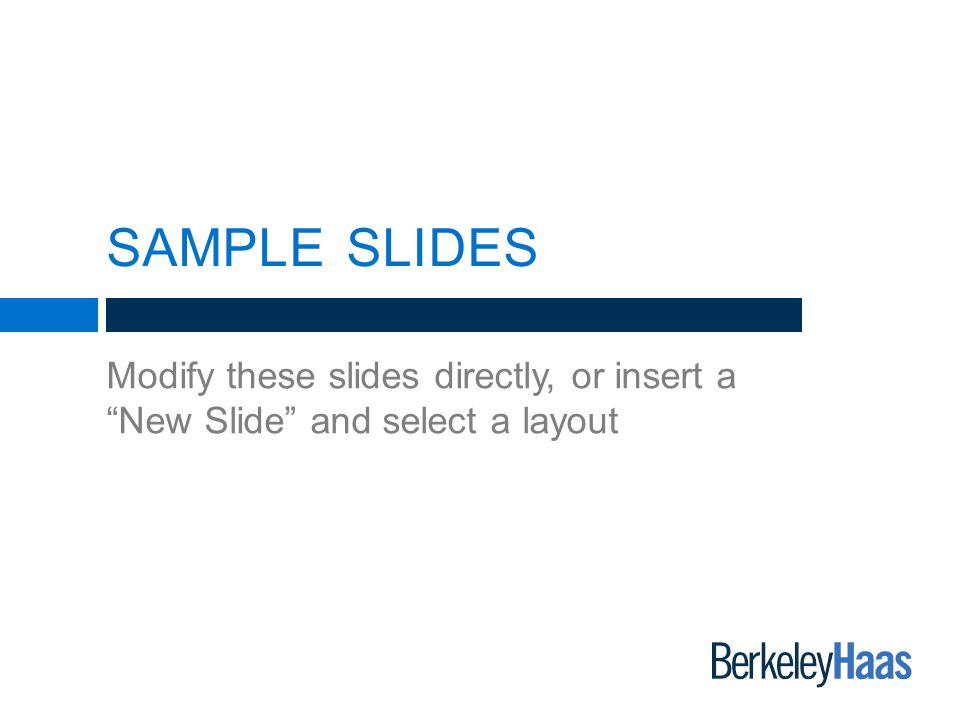 berkeley-haas powerpoint presentation template - ppt video online, Presentation templates
