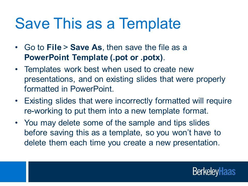 berkeley-haas powerpoint presentation template - ppt video online, Modern powerpoint