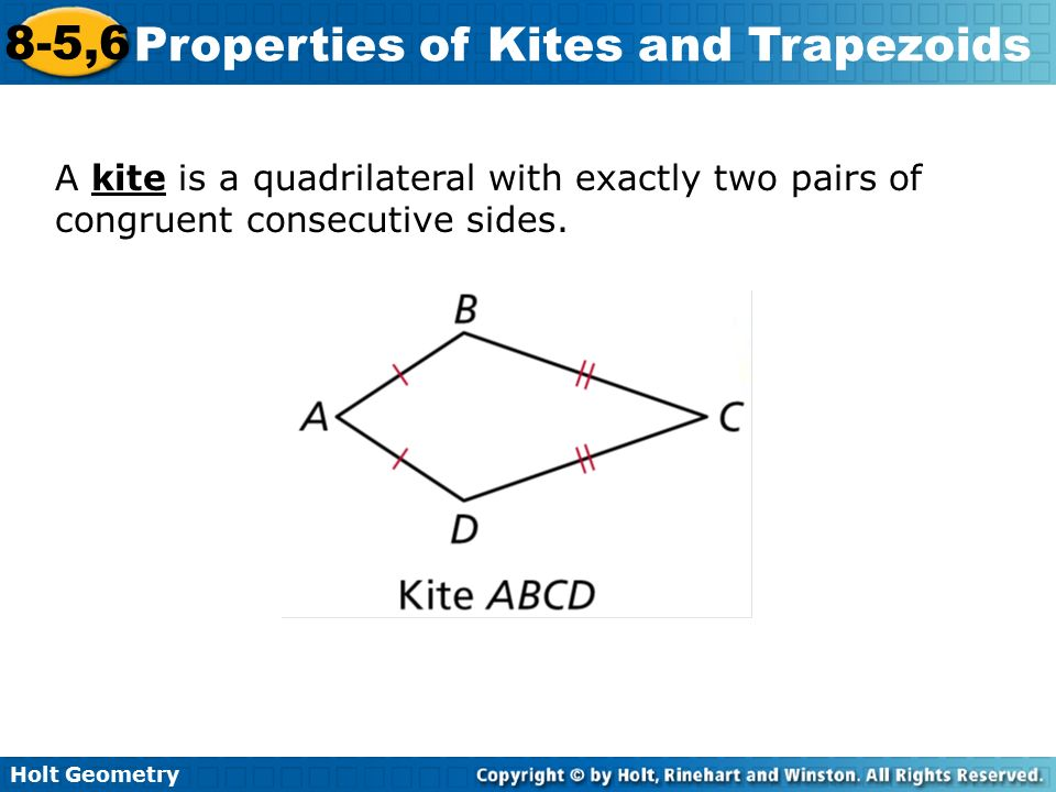 Properties of Kites 8-5,6 and Trapezoids Warm Up Lesson ...