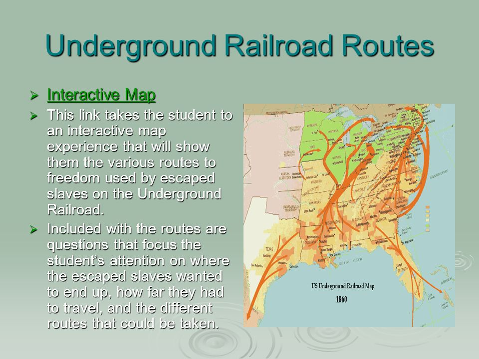 an analysis of underground railroad The underground railroad, by contrast, was personal: a scattering of private citizens, acting on conscience, and connected for the most part only as the constellations are—from a great distance.