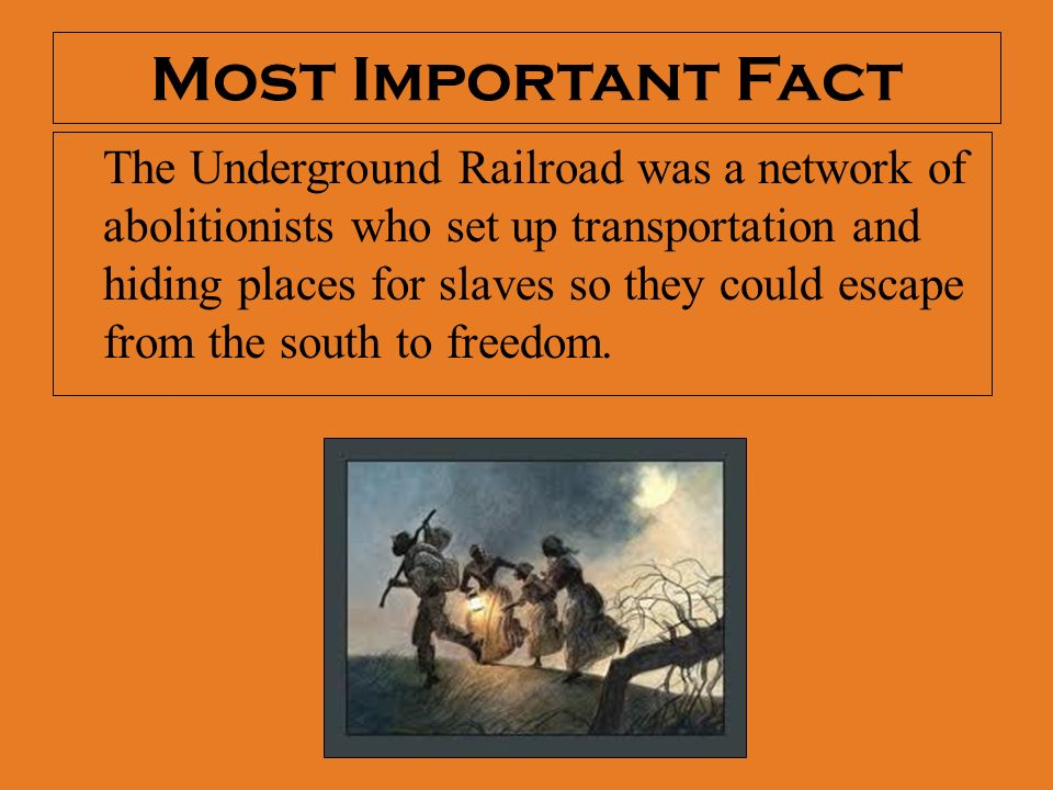 the railroad and the freedom of slaves The underground railroad is a term for the covert network of people and places that assisted fugitive slaves as they escaped from slavery in the south.