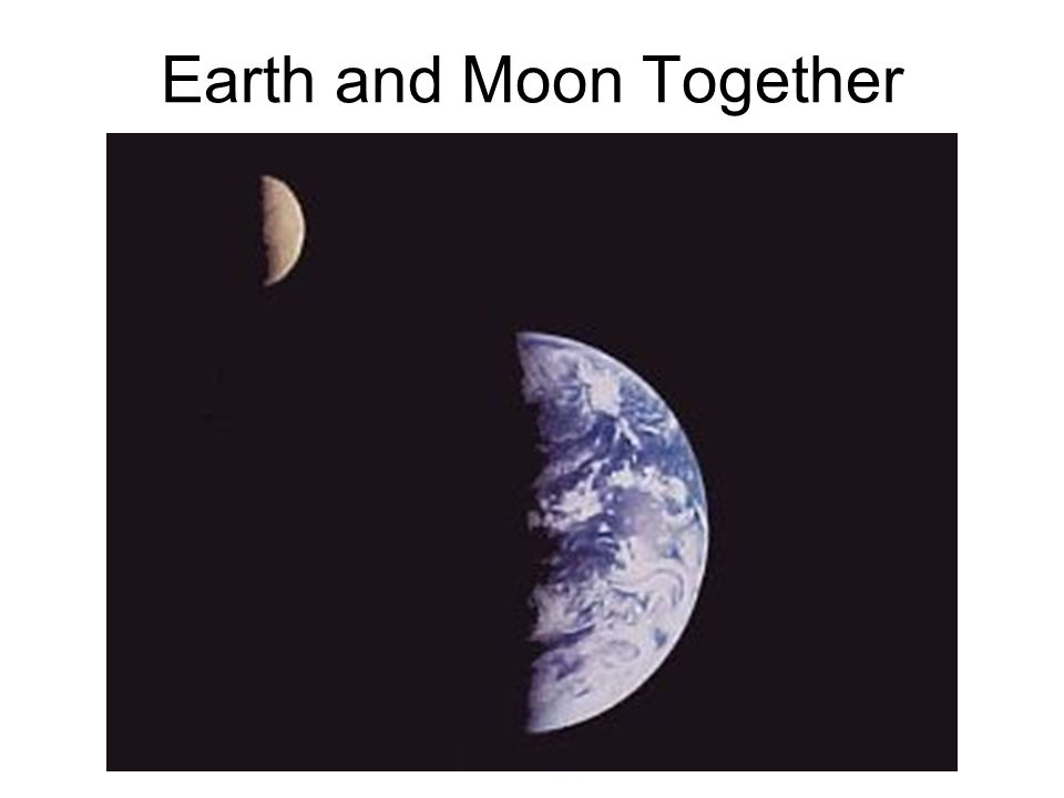 earth and moon together - photo #2
