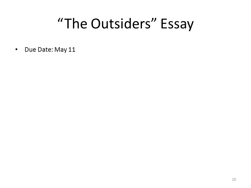 The Outsiders Essay Questions