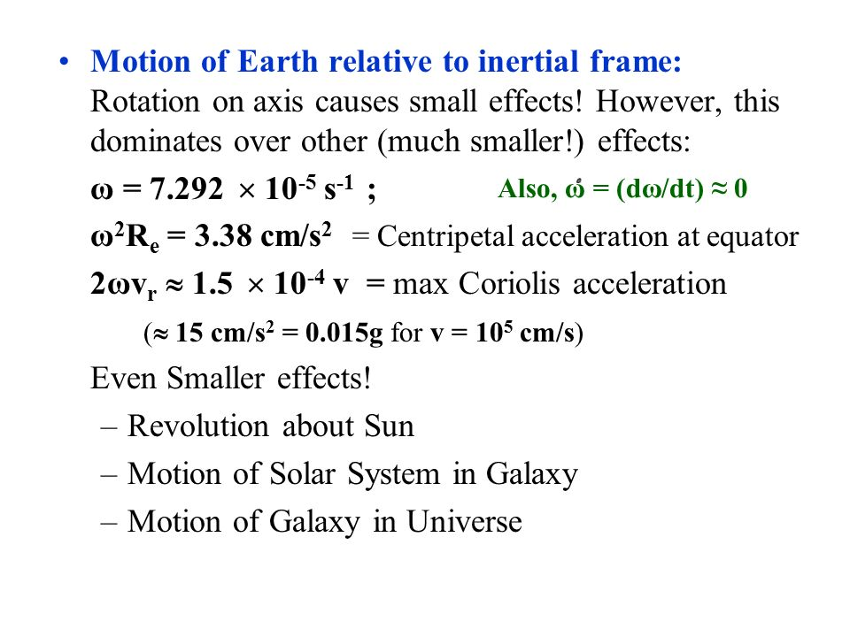 how to find centripetal acceleration of earth