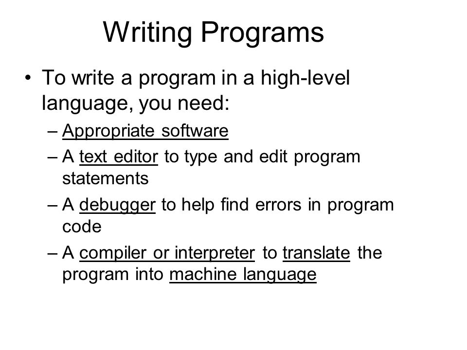 how to write a computer program in c language