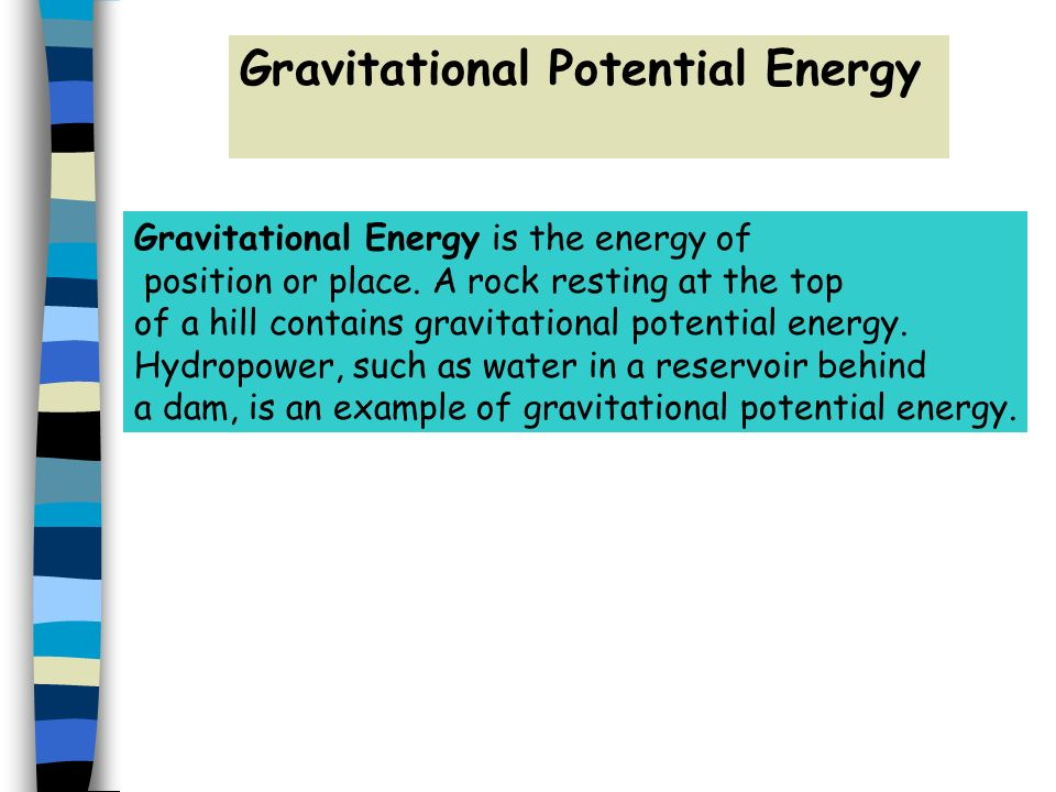 gravitational energy essay Gravitational potential energy an information sheet on gpe with questions and grade ladders used for the new aqa gcse science course (grade 1-9) sjah2001 (18) free.