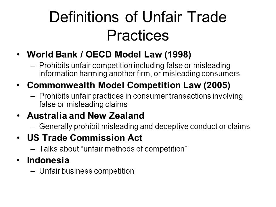 unfair trade practises This chapter provides a detailed explanation about maine's basic consumer  protection law, the unfair trade practices act this law prohibits businesses from .