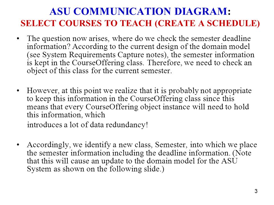 Asu course registration system system analysis communication asu communication diagram select courses to teach create a schedule ccuart Choice Image