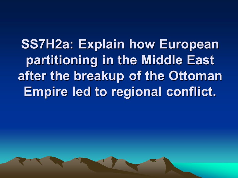 The Middle East conflict—a brief background