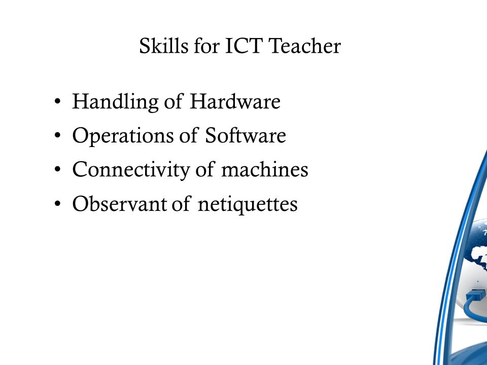 Skills And Qualities Of Ict Teacher Ppt Video Online