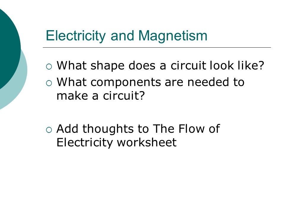 Electricity and Magnetism ppt download – Electricity and Magnetism Worksheets