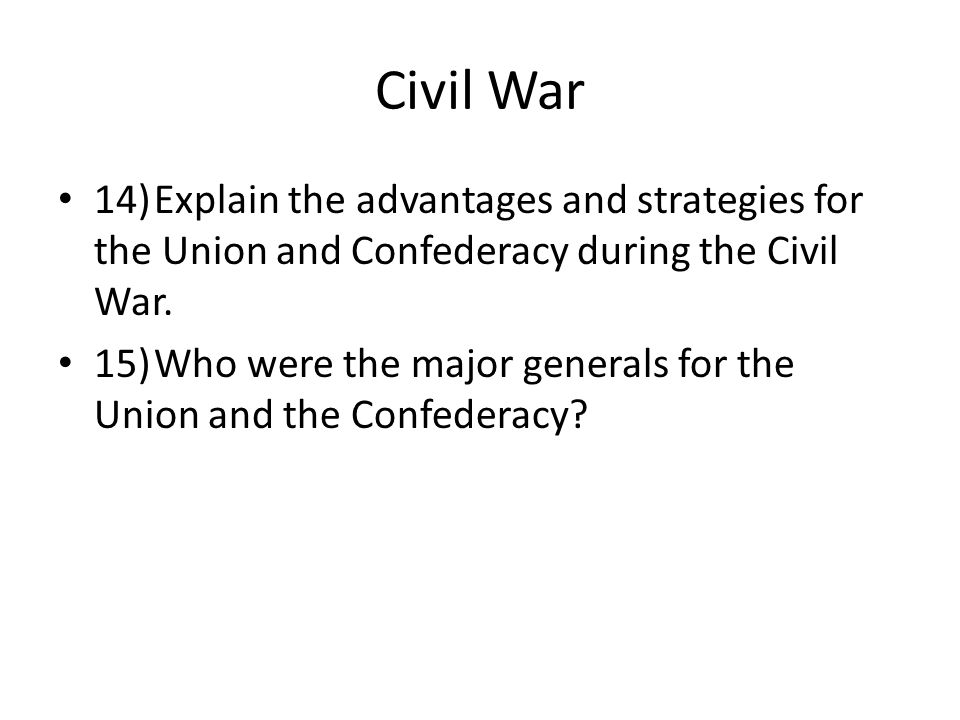 civil war study guide Dsst the civil war & reconstruction: study guide & test prep practice test.
