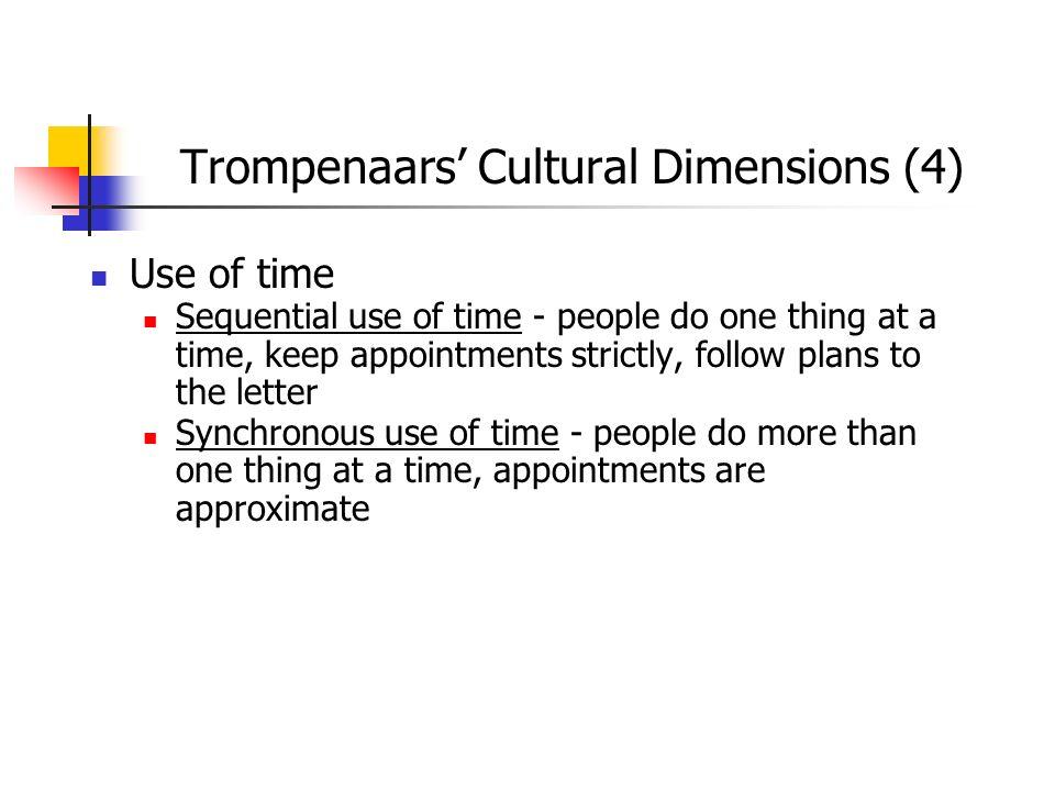 Trompenaars' Cultural Dimensions (4)