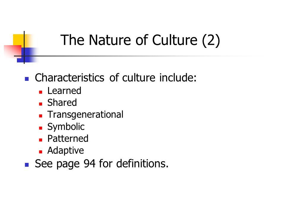 The Nature of Culture (2)