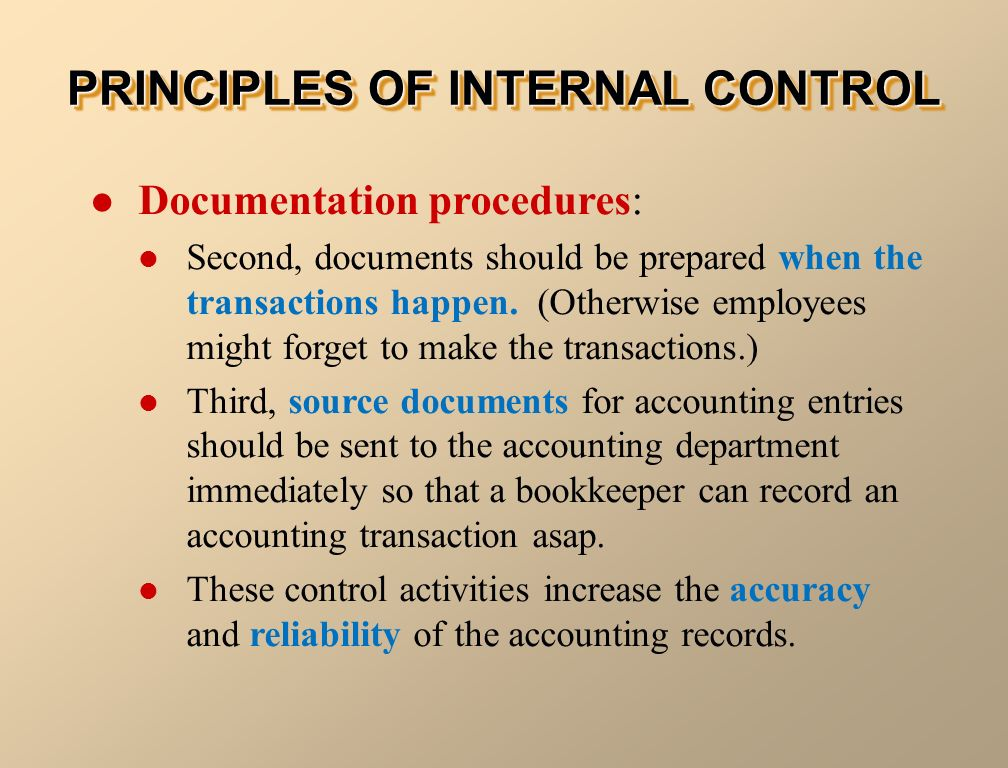 internal controls and accounting systems for S american accounting association (aaa) s american institute of certified public accountants greater transparency and accountability for the integrity of systems of internal control internal control-integrated framework reproduced consequently.