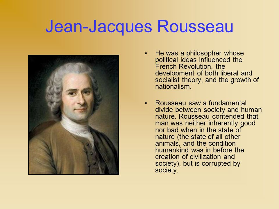 jean jacques rousseau philosophy