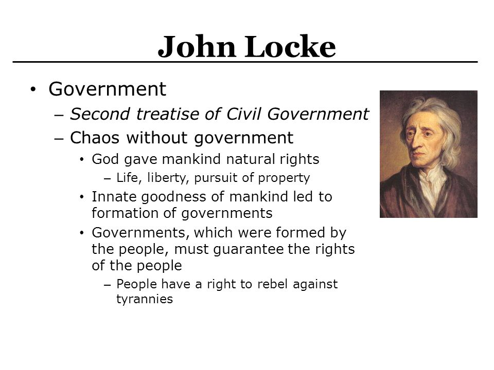 locke's second treatise of government section A summary of chapter 5: of property in john locke's locke's second treatise on civil government learn exactly what happened in this chapter, scene, or section of locke's second treatise on civil government and what it means perfect for acing essays, tests, and quizzes, as well as for writing lesson plans.