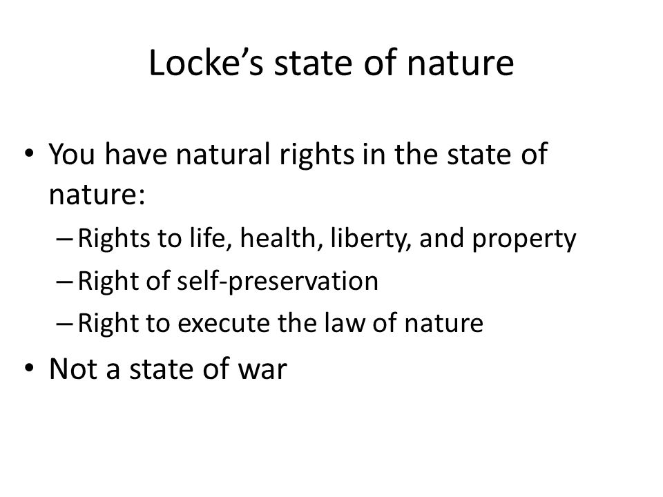 locke state of nature essay In the work essays on the law of nature, unpublished in his lifetime, locke also stressed that men had the obligation to obey their creator next section chapter iii: of the state of war summary and analysis previous section chapter i summary and analysis buy study guide.