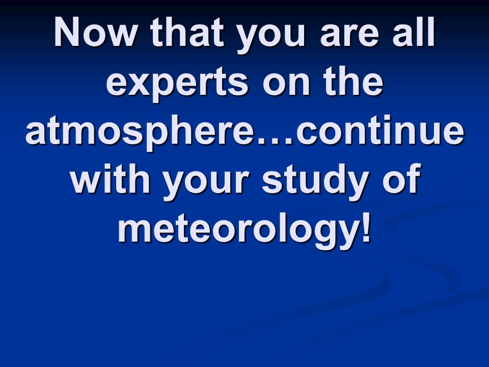 Study meteorology in singapore