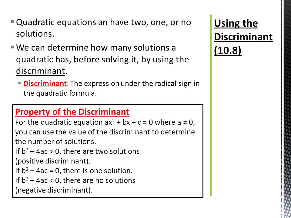 What Is The Discriminant Of A Quadratic Equation Jennarocca – The Quadratic Formula and the Discriminant Worksheet