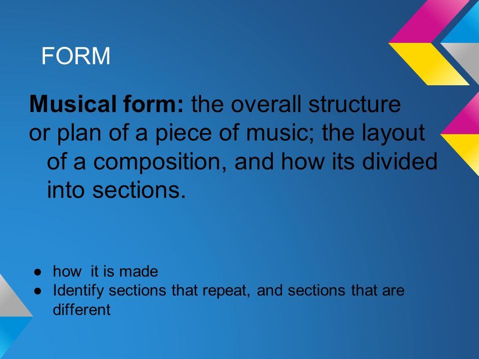 musical form and structure Abstract structures include data structures in computer science and musical form types of structure include a hierarchy  form-active structures such as cable or.