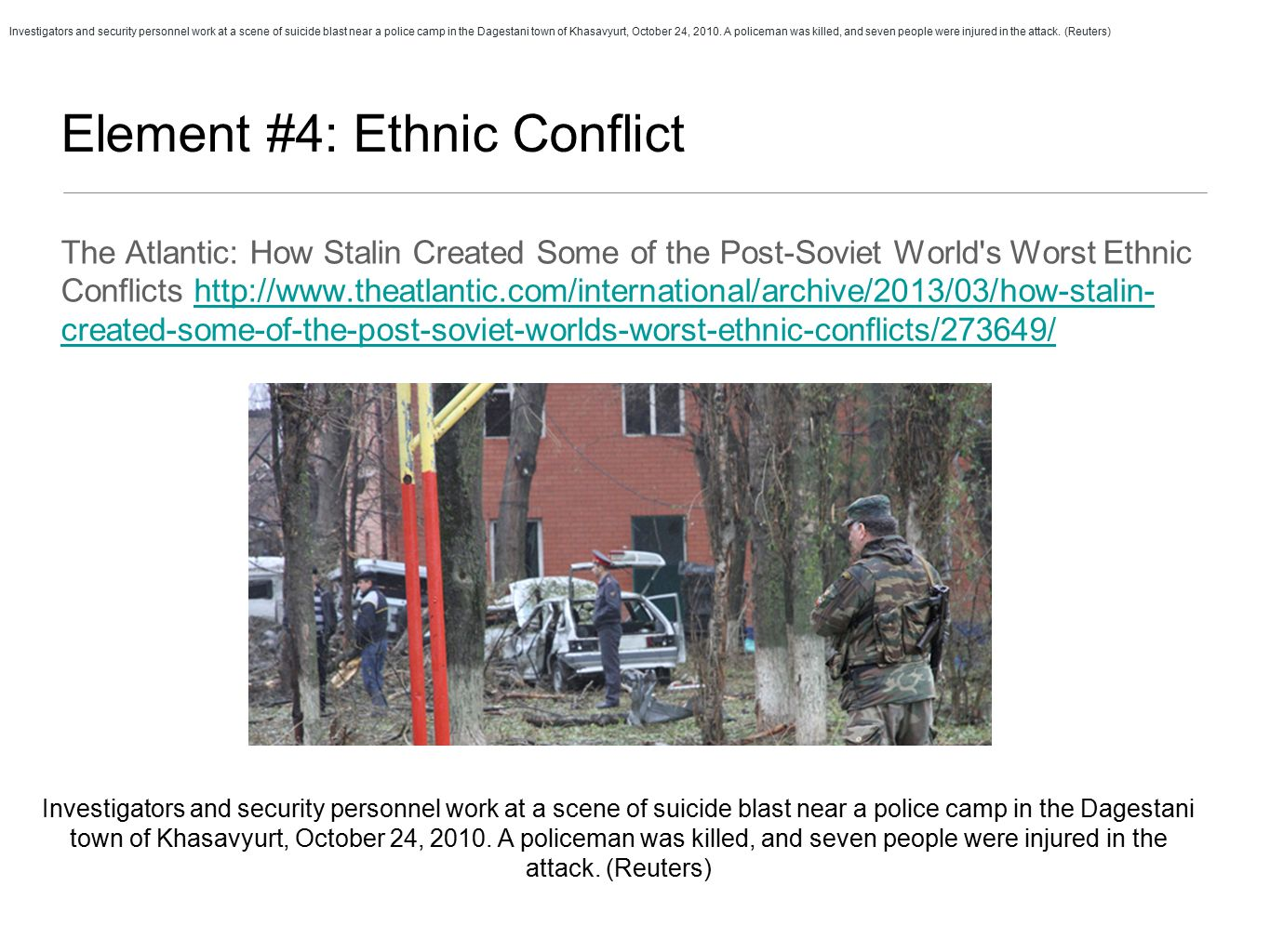 ethnic conflict and international security Home global issues peace and security  the main strategies for preventing  disputes from escalating into conflict, and for preventing the  war crimes, ethnic  cleansing and crimes against humanity, enhancing the capacity of the united.