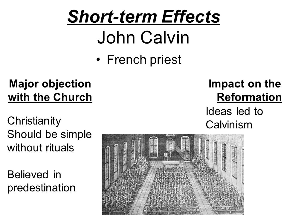 an analysis of john calvins impact in christianity John calvin john knox persecution and the complex impact of calvinism on the political and cultural this wide-ranging study offers detailed analysis of the.