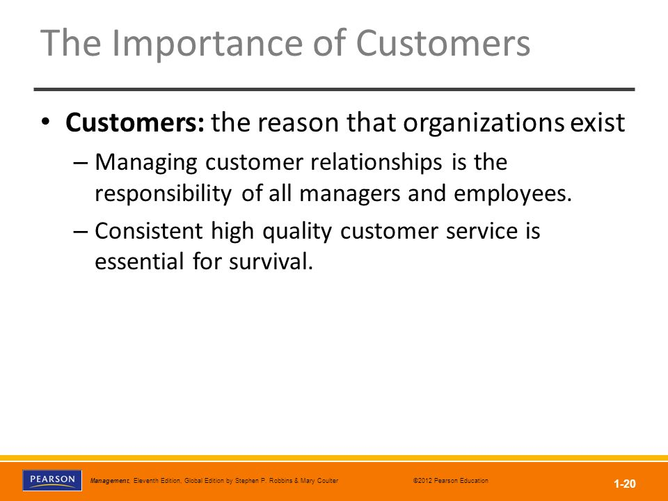 The Importance of Customers