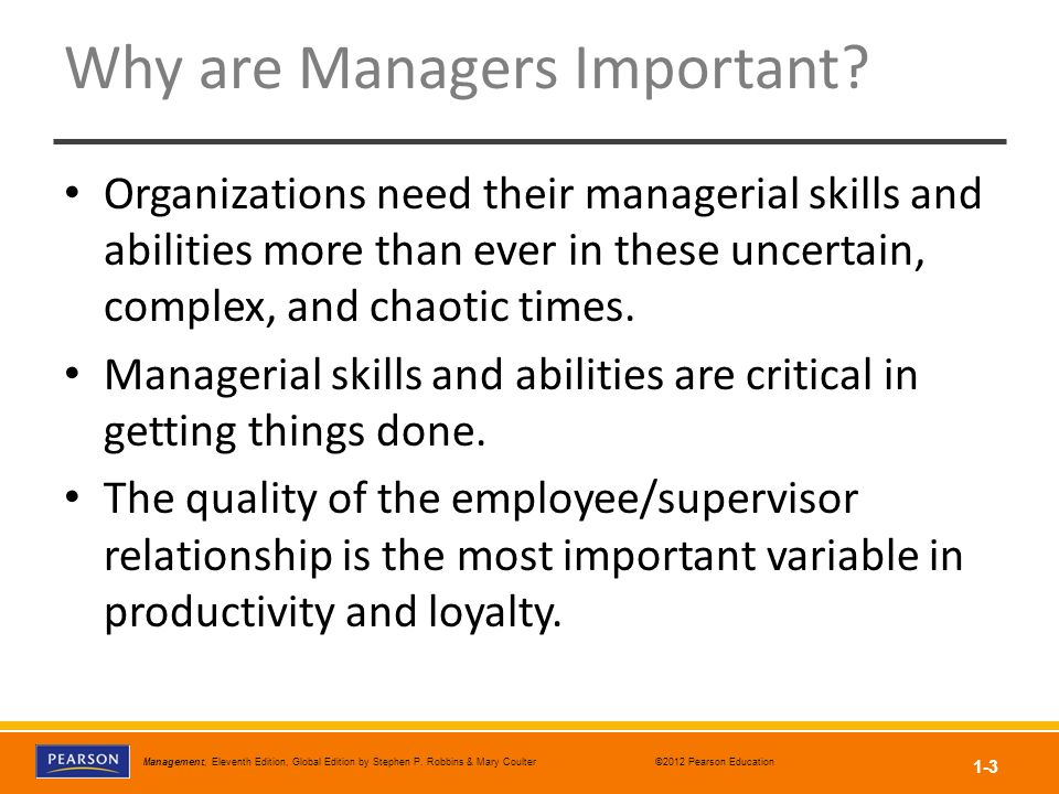 Why are Managers Important