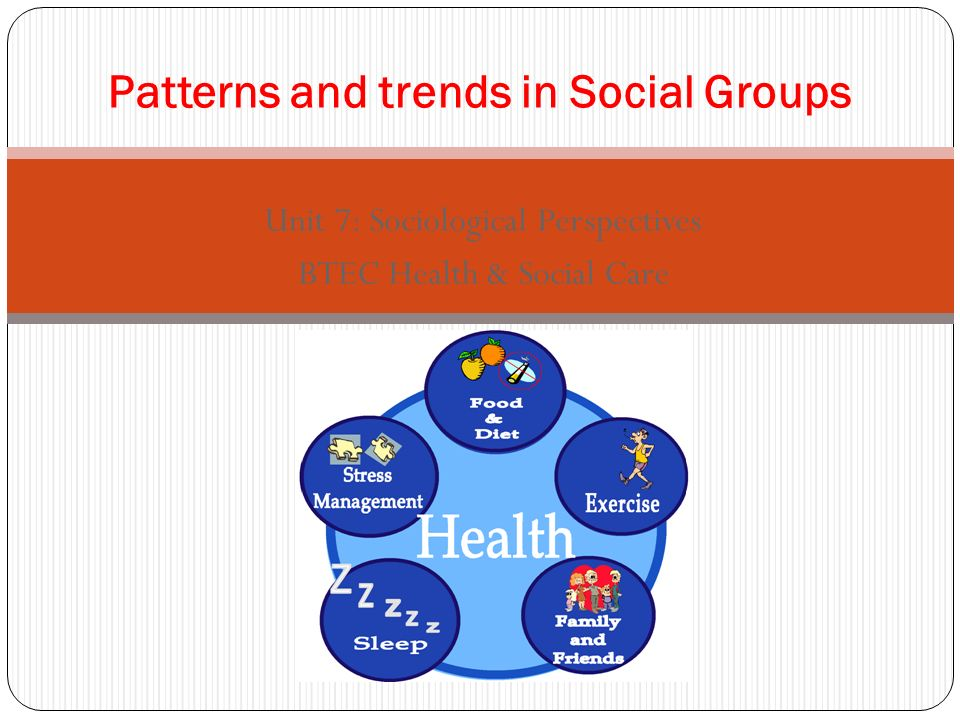 P3 – Explain patterns and trends in health and illness among different social groupings.