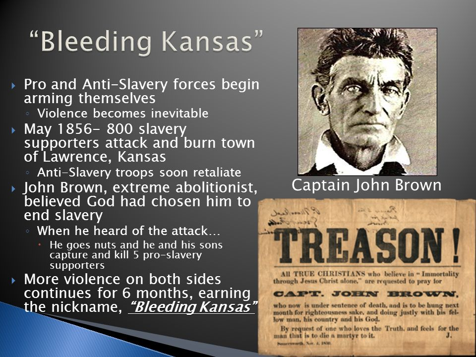 john brown an extreme abolitionist The early abolitionist movement in the whereas the vast majority of abolitionists eschewed violence, john brown the culminating act of extreme.