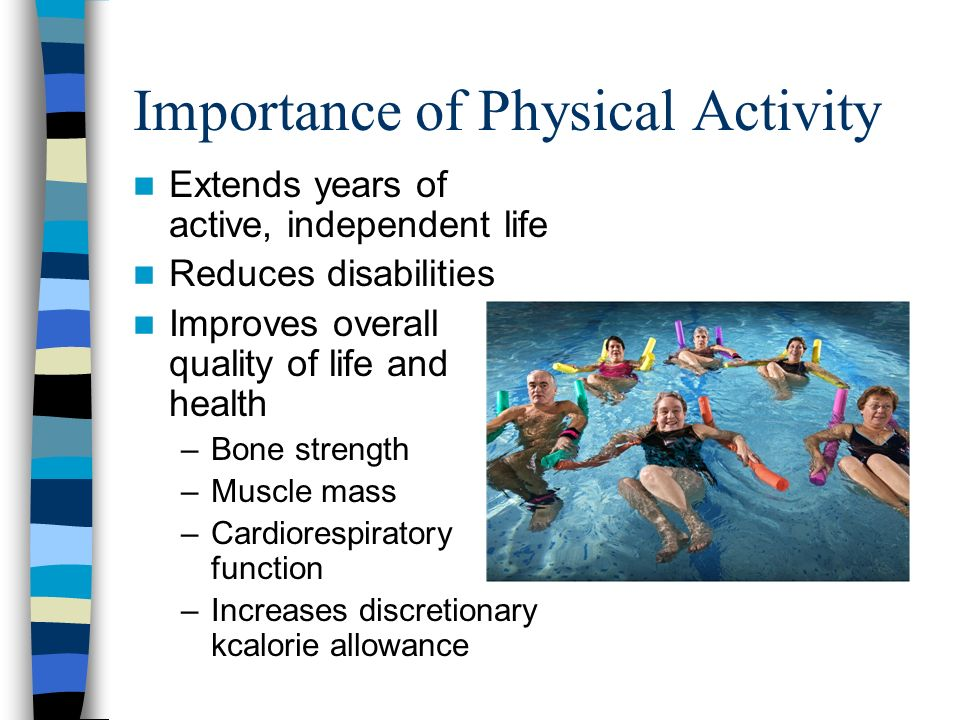 Physical Activity for a Healthy Weight