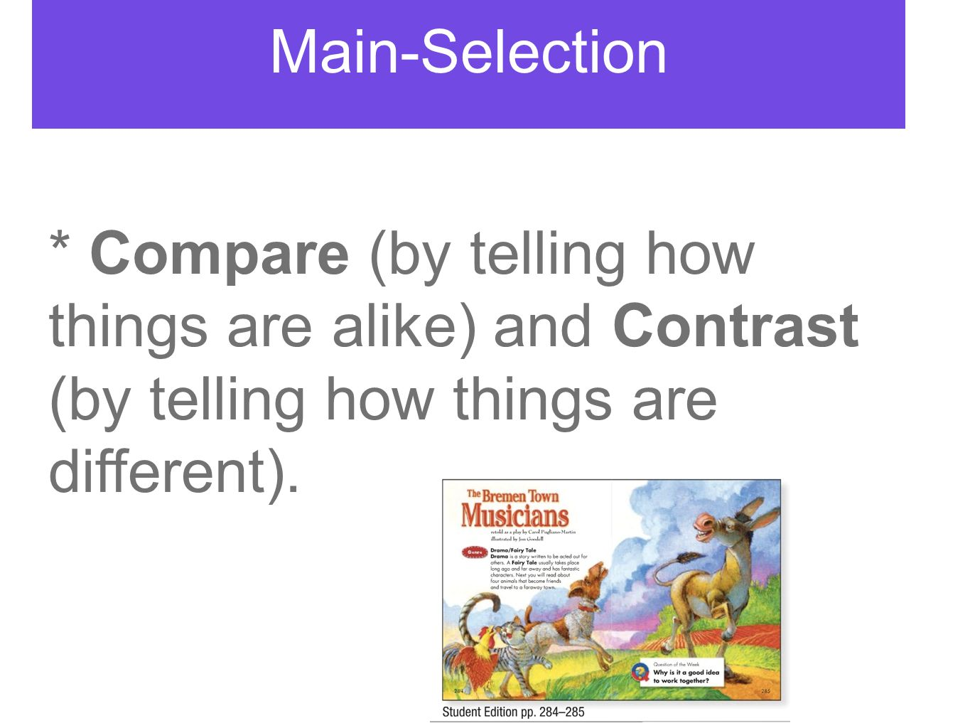 compare and contrast how the main However, for a comparison and contrast, the thesis could be although both use the same story line and offer similar game play, the newest version of the game differs from the older game in terms of characters, technical specifications and price, indicating the essay will cover both similarities and differences.