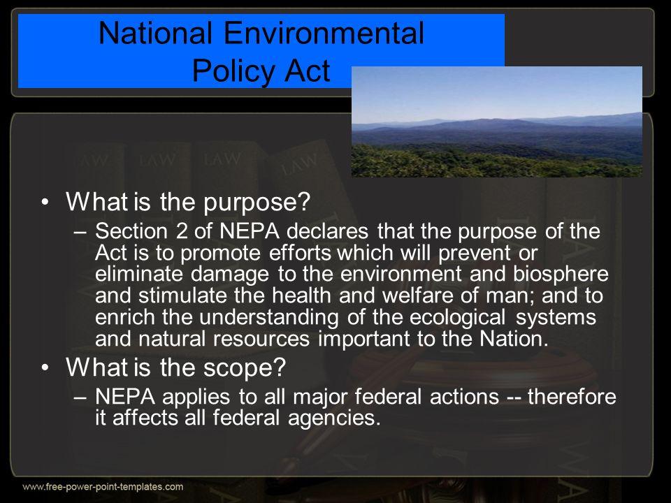 national environmental policy act pdf