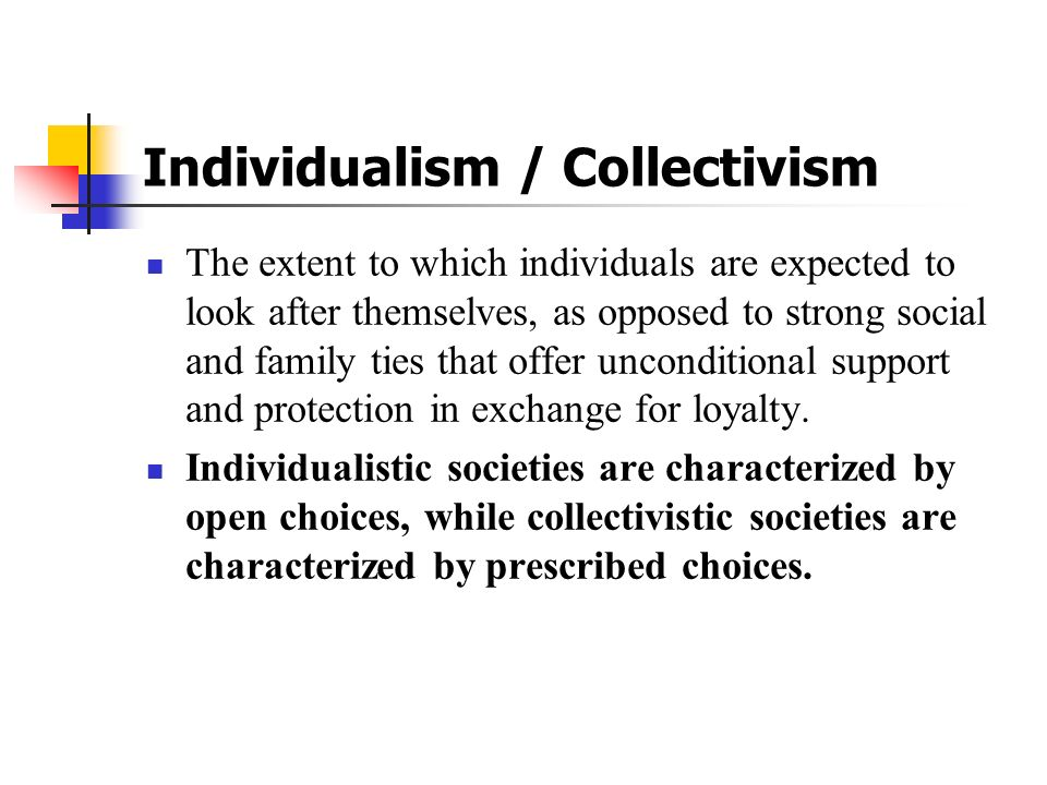 Individualism / Collectivism