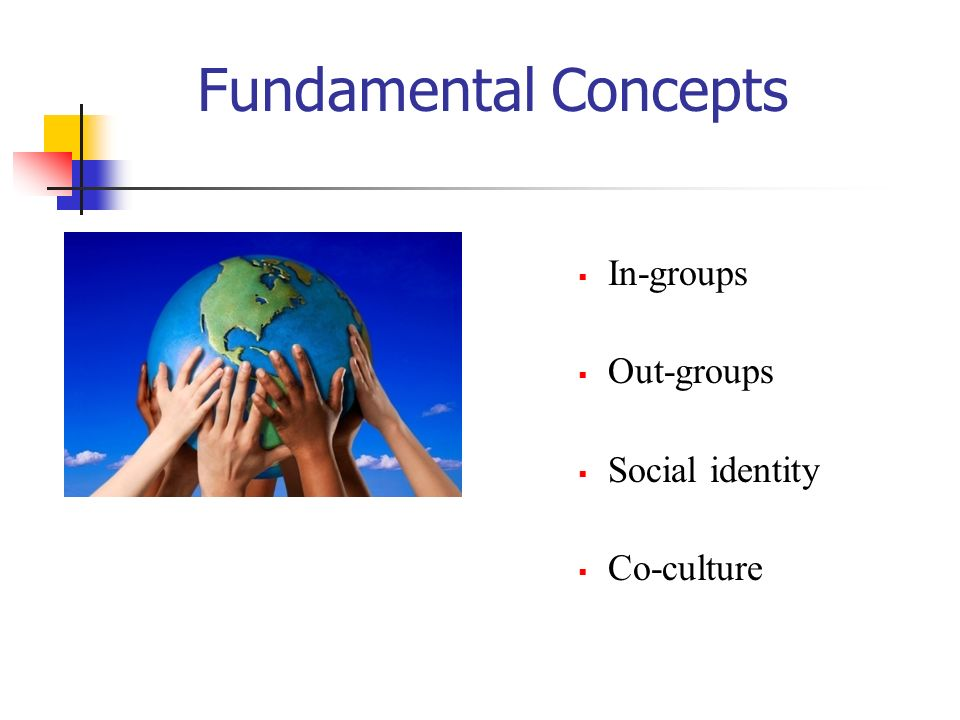 Fundamental Concepts In-groups Out-groups Social identity Co-culture