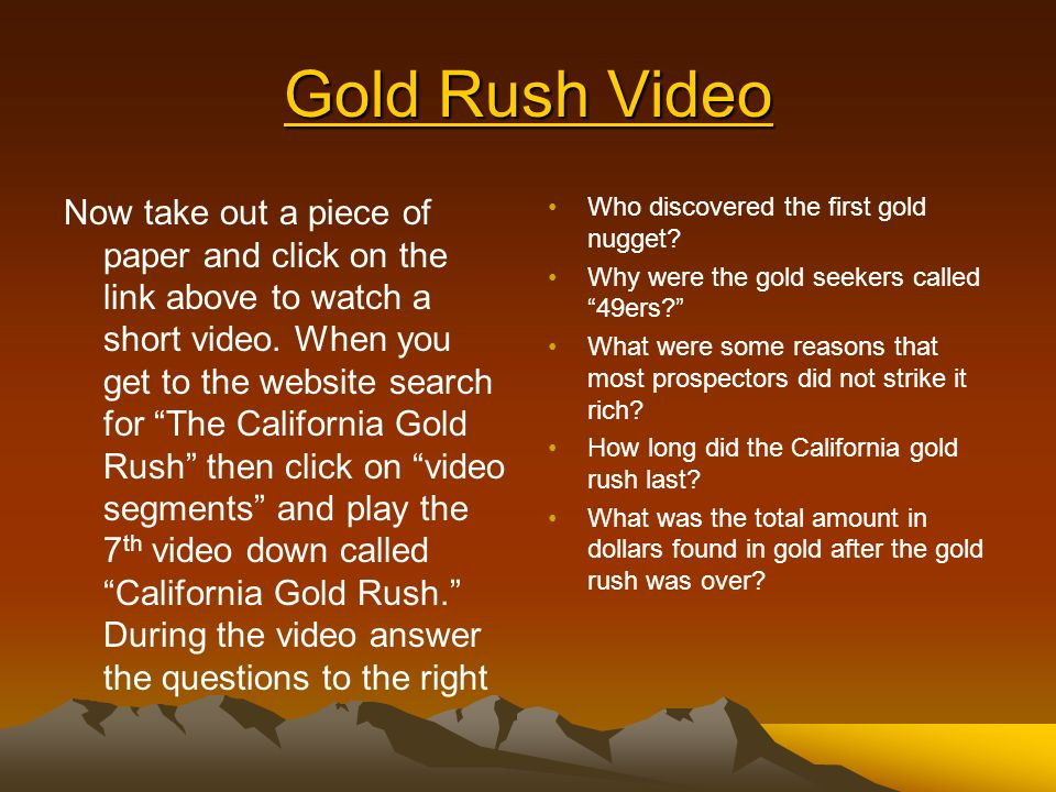 vigilantism during the california gold rush essay Gold was discovered in california in 1848  ask your students to imagine they were alive during the gold rush and had traveled to the area.