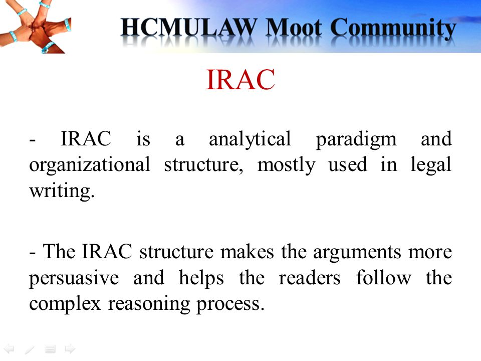 How to write a brief using irac