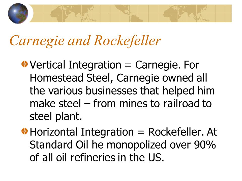 how did vertical integration help the carnegie steel business
