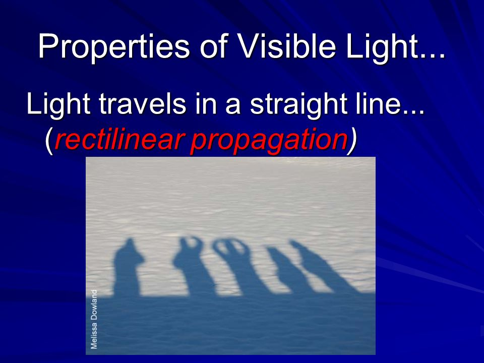 Properties of Visible Light...
