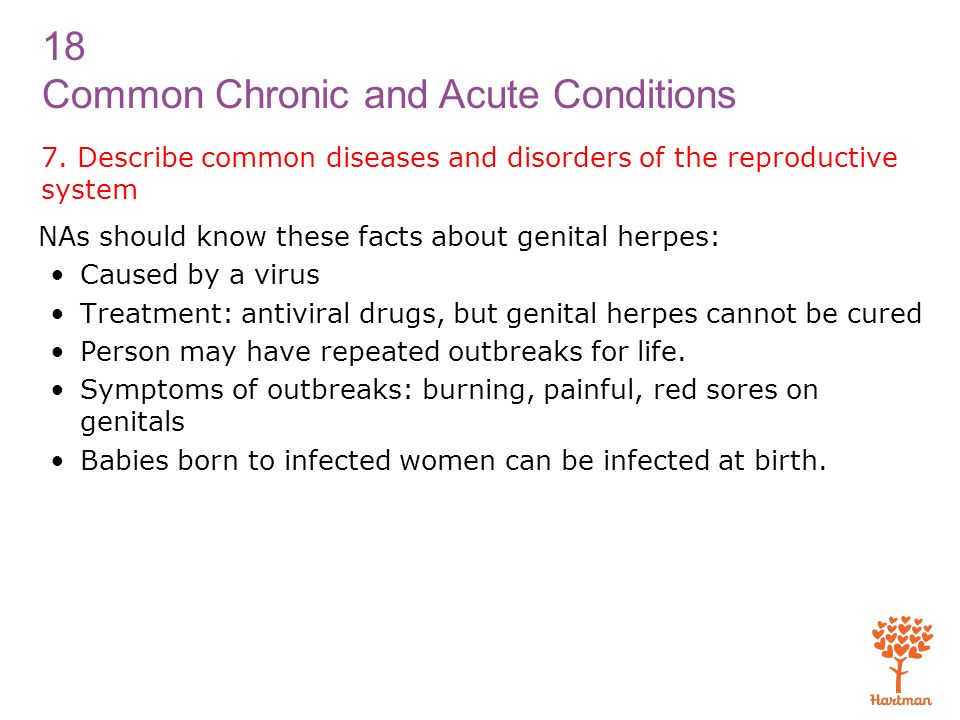 7. Describe common diseases and disorders of the reproductive system