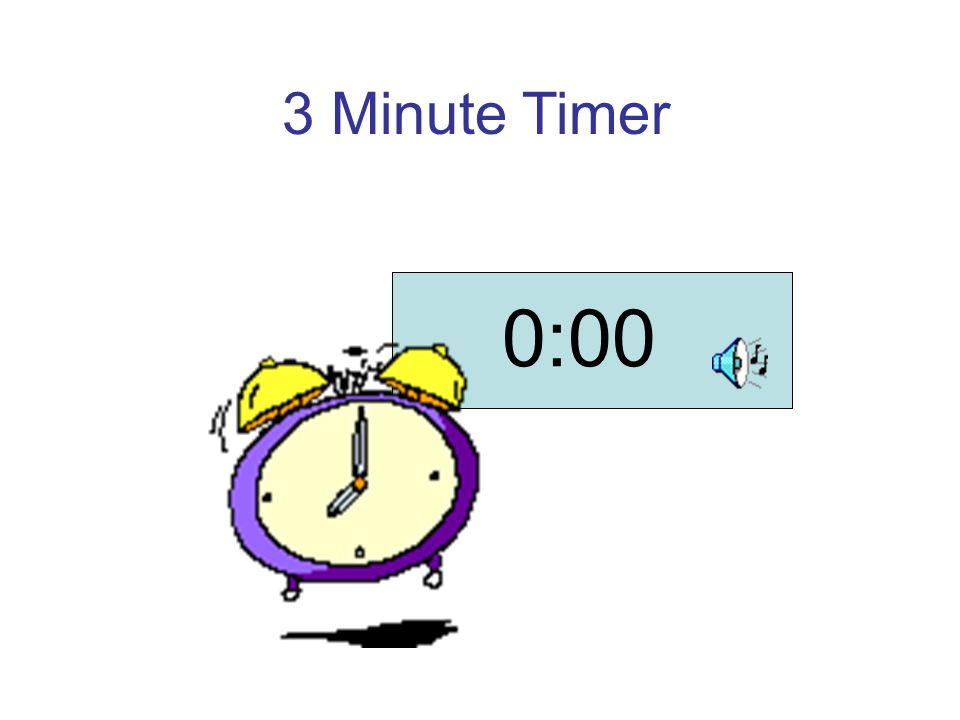 a timer for 3 minutes