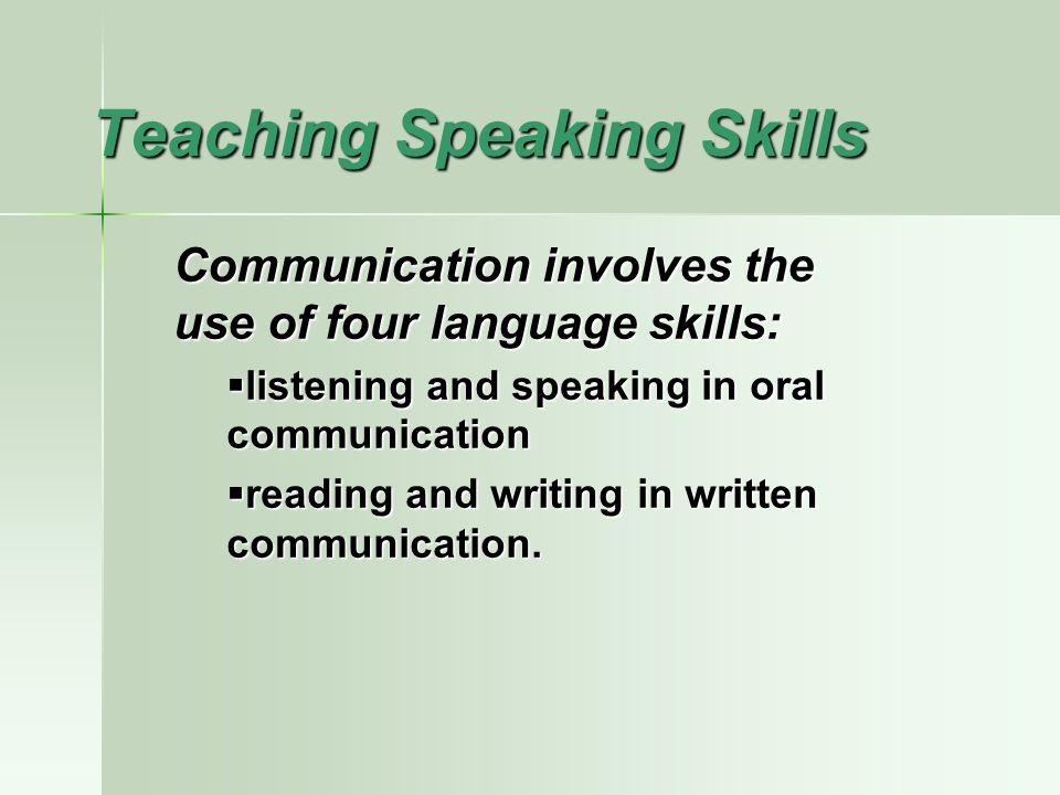 how to develop speaking skills