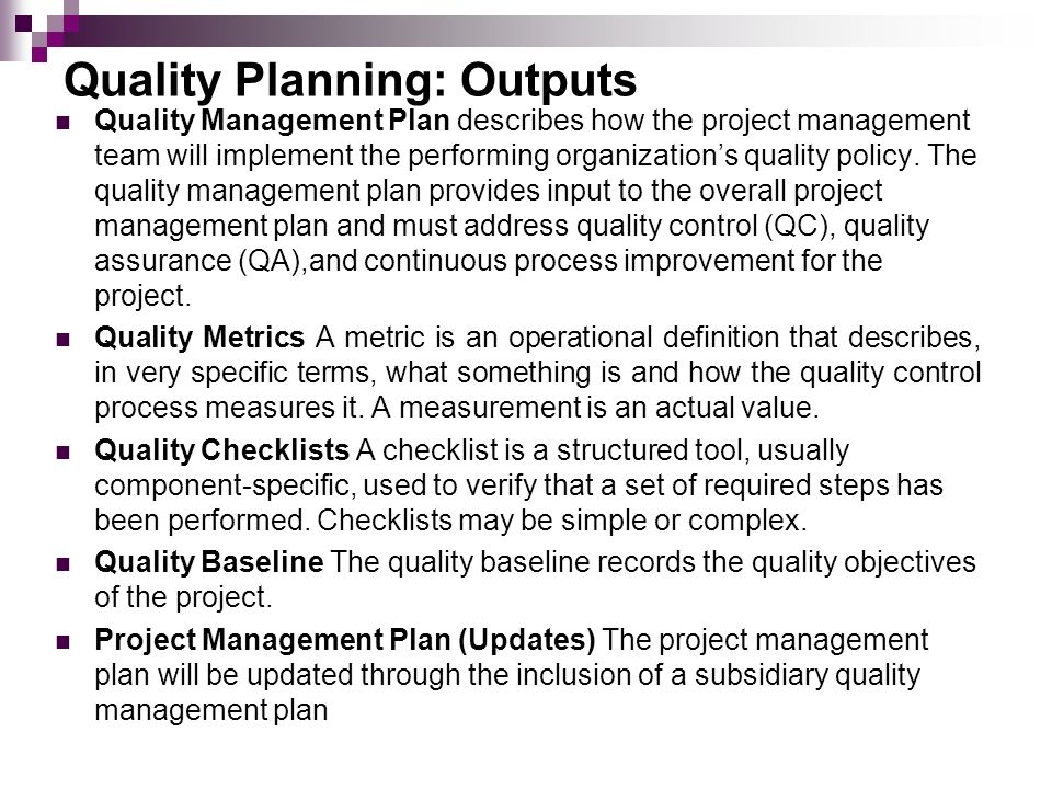 project quality management ppt download