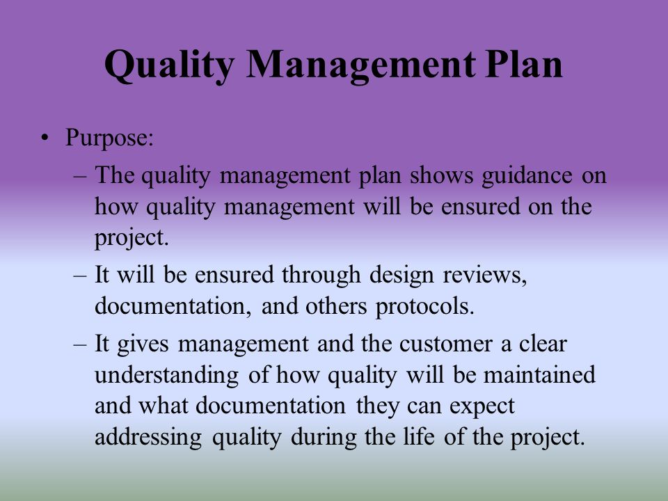 Software Quality Management Plan - Ppt Video Online Download