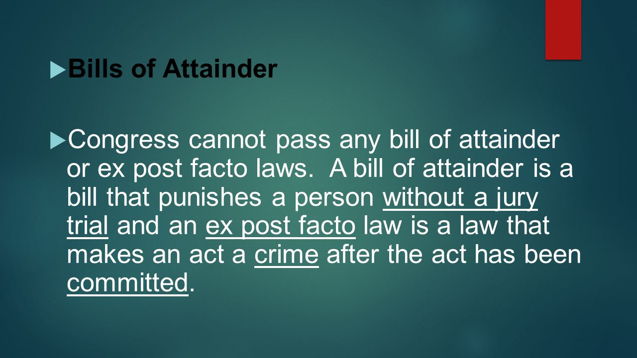 ex post facto laws essay