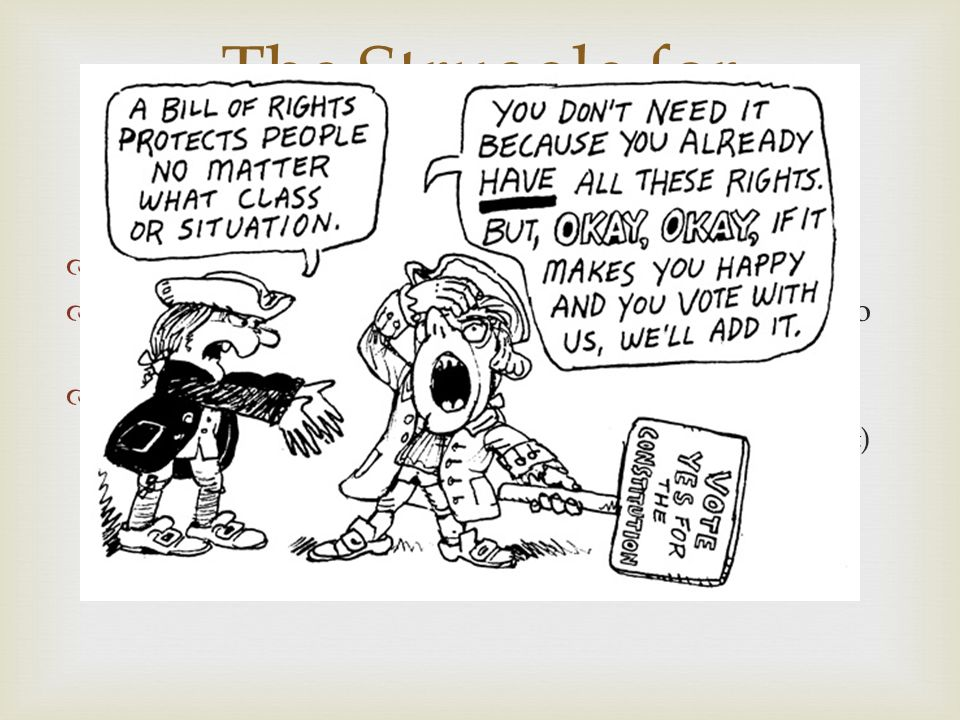 bill of rights political cartoon